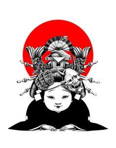 Hakuchi uses a fusion of modern and tradional styles in his manga illustrations.http://trendland.net/2009/06/08/hakuchi illustration/
