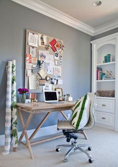 Shea's Stylish Happy Home Office Office Tour | Apartment Therapy #desk
