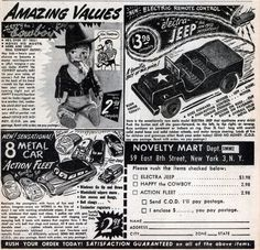 AMAZING VALUES #print #design #graphic #novelty #vintage #ad #toy