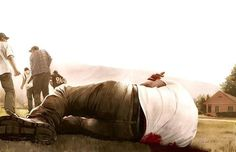 owen freeman illustration #illustration #dead #fields #man #country