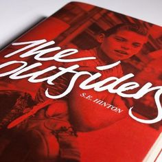 'the outsiders' book cover type treatment