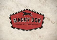 Mangy Dog Logo #guitar #badge #bra #branding #distressed #vintage #logo #dog