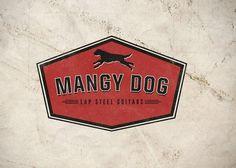 Mangy Dog Logo #guitar #badge #bra #branding #distressed #vintage #logo #dog