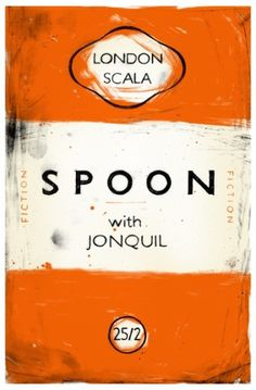 Penguin-inspired Gig poster for Spoon « Book Cover Archive blog #spoon #gig #orange #book #cover #poster #penguin