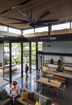 Double Height Living Spaces Add Drama to This Industrial-Style House 2
