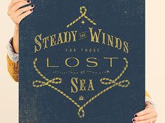 Steady_the_winds_bbb #typography #print #lettering #illustration