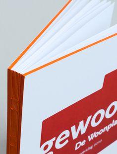.jaarverslag 2010 De Woonplaats #binding #book #annual #report