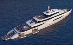 Ottantacinque Luxury Motor Yacht by Pininfarina #Ottantacinque #Yacht #Pininfarina #Fincantier