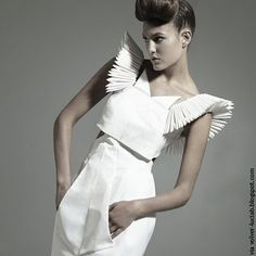 A Matter Of Style: DIY Fashion: Origami fashion part 2 #inspiration #design #origami