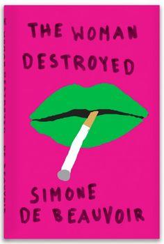 Bold, brash covers for de Beauvoir's works #graphic design #design #illustration #typography #cover design