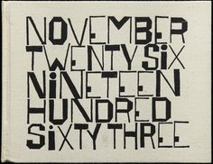 Mid-Century Modern Graphic Design #lettering #date