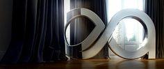 exorbit art logo #render #design #graphic #exorbit #art #chrome #typo