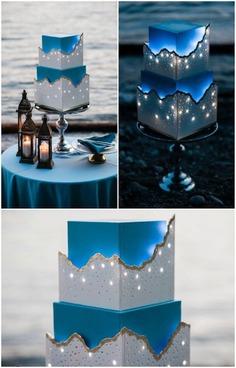 lights cake for wedding function