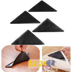 Reusable #Floor #Carpet #Mat #Rug #Gripper #4pcs #- #BLACK
