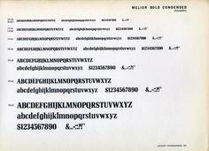 Melior Bold Condensed type specimen #type #specimen #typography