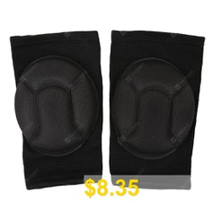Pair #of #Sponge #Knee #Pads #Sports #Dancing #Kneecaps #- #BLACK