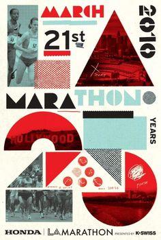 La Marathon 25 years #marathon #poster