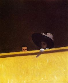 Box Seats at the Theater by Felix Vallotton #painting #art