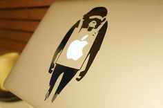 Banksy's protesting Monkey MacBook Decal #tech #flow #gadget #gift #ideas #cool