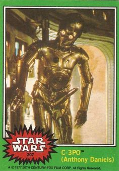The C-3PO with a Boner Star Wars Trading Card from Topps #c3po #boner #card #trading #wars #on #star #hard