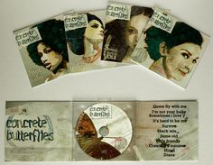 Concrete Butterflies on Packaging Design Served #design #illustration #portrait #music #cd
