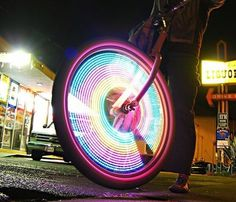 MonkeyLetric LED Bike Wheel Lights #gadget #lights #led #bike