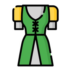 See more icon inspiration related to garment, femenine, clothing, dress, elegant, fashion and clothes on Flaticon.