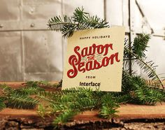 Savor the Season #holidays #lettering #zac #hand #jacobson #typography