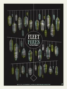 GigPosters.com - Fleet Foxes #gig #design #screenprint #poster