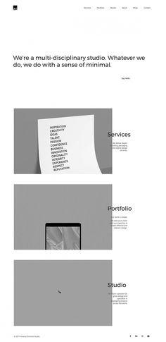 Aivaras Simonis Design Studio - Mindsparkle Mag -Aivaras Simonis Studio is a multi-disciplinary design studio whose website is inspired by m