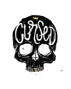 Cursed Art Print #skul #illustration #art #type #skull #drawing #typography