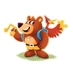 Videogame Heroes on Behance #design #illustrations #banjo #kazooie #character