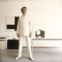Buamai Ontwerper Wim Crouwel, 1969 On Flickr Photo Sharing! #white #retro #fashion #man #style