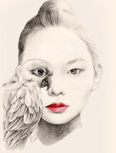 Sweet Art Pencil Drawing by OkArt #pencil art #drawing
