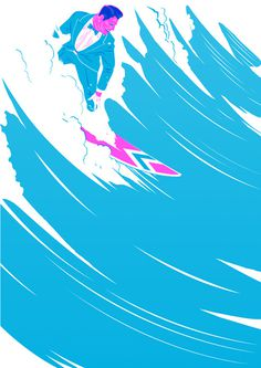 GtheGentleman #illustration #suit #surf #wave