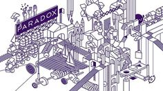 Paradox Art Cafe on the Behance Network #isometric #chan #escher #building #blocks #stephen #paradox