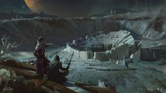 ArtStation - The Cradle in IO, by Sung Choi