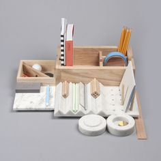 Shkatulka by Lesha Galkin #storage #box #hide #wood #combine #kit #pencils