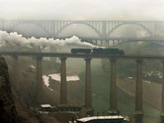 The three bridges #train #bridge #china