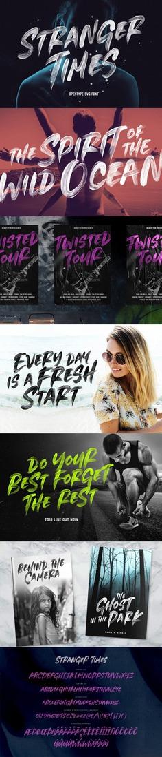 Stranger Times – OpenType SVG Font