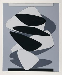 Victor Vasarely, Kervilahuen, no date. Via RoGallery #illustration #form #composition