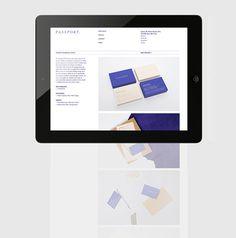 Passport Branding Update on Behance #portfolio #design #passport #layout #web