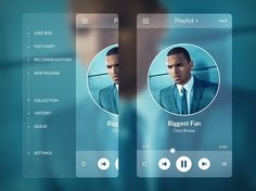 Music Player Side Menu #ui