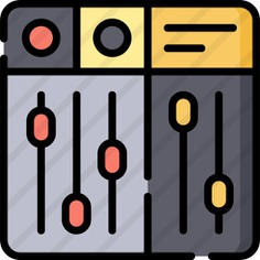 See more icon inspiration related to launchpad, ui, music and multimedia, music mixer, edit tools, sound mixer, multimedia option, electronics, equalizer, mixer, sound, multimedia and technology on Flaticon.