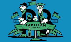 Etiquetas ilustradas para la cerveza artesanal Partizan Brewing #beer #illustration #label