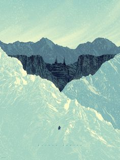 Batman Begins - kevin tong illustration #superhero #frozen #design #batman #illustration #poster #film #art #ice #comics #mountains