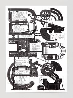 B Sides 2009 by Felix Pfäffli #design #graphic #typography
