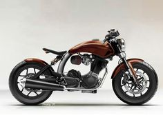 Mac Custom Motorcycle 3 #retro #brown #bike #bobber #chopper #motorcycle