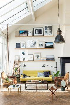 Loft #interior #vintage #sofa