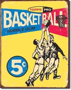 Vintage Retro Tin Sign Topps 1957 Basketball Gum Card | eBay #gum #retro #vintage #basketball